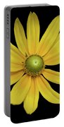 Yellow Eyed Daisy In Black Portable Battery Charger