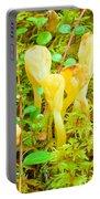 Yellow Fairy Fan Mushrooms Spathularia Flavida Portable Battery Charger