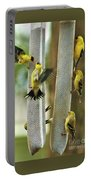 Yellow Finch Feeding Frenzy Portable Battery Charger