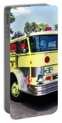 Yellow Fire Truck Portable Battery Charger