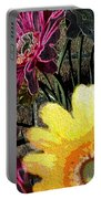 Yellow Floral Portable Battery Charger