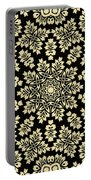 Yellow Floral Ornament Design Portable Battery Charger