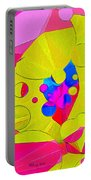 Yellow Flower In Pink Field 008 Portable Battery Charger