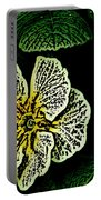 Yellow Flower Woodcut Portable Battery Charger
