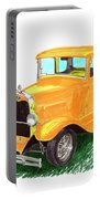 1932 Yellow Ford Hot Rod Coupe Portable Battery Charger