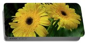 Yellow Gerbera Daisies By Kaye Menner Portable Battery Charger