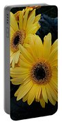 Yellow Gerbera Daisies Portable Battery Charger
