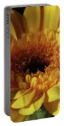 Yellow Gerbera Macro Portable Battery Charger