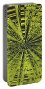 Yellow Green Black Abstract Portable Battery Charger