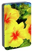 Yellow Hibiscus #65 Portable Battery Charger