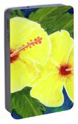 Yellow Hibiscus Flower #292 Portable Battery Charger