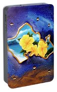 Yellow Hibiscus Hawaii State Flower #142 Portable Battery Charger