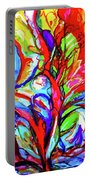Yellow Iris Abstract Portable Battery Charger