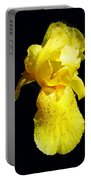 Yellow Iris After The Rain Portable Battery Charger