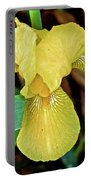 Yellow Iris At Pilgrim Place In Claremont-california Portable Battery Charger