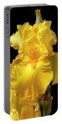 Yellow Iris Flower Still Life Portable Battery Charger