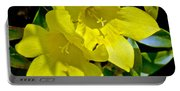 Yellow Jessamine At Pilgrim Place In Claremont-california Portable Battery Charger
