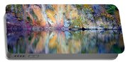 Yellow Lake Abstract Portable Battery Charger