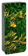 Yellow Lily Flowers Portable Battery Charger