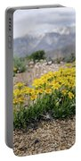 Yellow Mountain Blooms Portable Battery Charger by Margaret Pitcher
