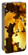 Yellow Nature Tree Leaves Art Prints Bright Baslee Troutman Portable Battery Charger