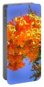 Yellow-orange Horn Flowers 01 Portable Battery Charger