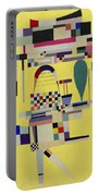 Yellow Painting Portable Battery Charger