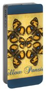 Yellow Pansy Butterfly Wheel Portable Battery Charger