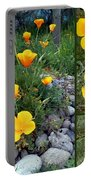 Yellow Poppies Collage  Portable Battery Charger