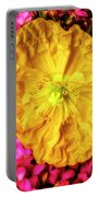 Yellow Poppy And Kalanchoe Flowers Portable Battery Charger