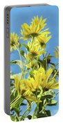 Yellow Posies Gazing At The Sky  Portable Battery Charger