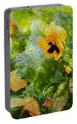 Yellow Pretty Little Flowers Portable Battery Charger