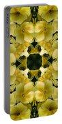 Yellow Primrose Kaleidoscope Portable Battery Charger