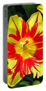 Yellow Red Flower Portable Battery Charger