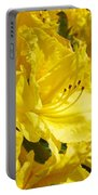 Yellow Rhodies Floral Brilliant Sunny Rhododendrons Baslee Troutman Portable Battery Charger