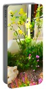 Yellow Rose Bush Portable Battery Charger