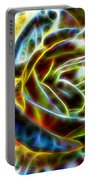 Yellow Rose Fractal Portable Battery Charger