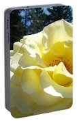 Yellow Rose Garden Landscape 3 Roses Art Prints Baslee Troutman Portable Battery Charger