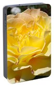 Yellow Rose Sunlit Summer Roses Flowers Art Prints Baslee Troutman Portable Battery Charger