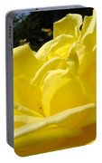 Yellow Rose Sunny Art Prints Roses Flowers Baslee Troutman Portable Battery Charger