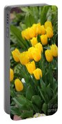 Yellow Spring Tulips Portable Battery Charger