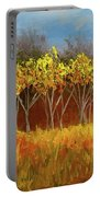 Yellow Stand Of Trees Portable Battery Charger