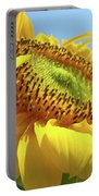 Yellow Sunflower Blue Sky Art Prints Baslee Troutman Portable Battery Charger