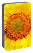 Yellow Sunflower With Bee Portable Battery Charger