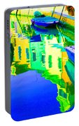 Yellow Toned Reflections Portable Battery Charger