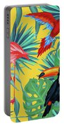 Yellow Tropic  Portable Battery Charger