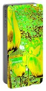 Yellow Tulips Abstract Portable Battery Charger