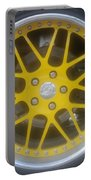 Yellow Vette Wheel Portable Battery Charger