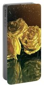 Yellow Vintage Roses  Portable Battery Charger