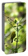 Yellow Warbler In A Tree 2 Portable Battery Charger